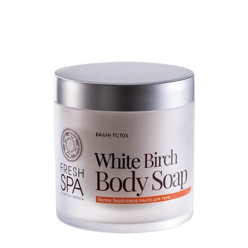 NATURA SIBERICA Bania Detox – Bílé tělové mýdlo Březové Objem 400 ml