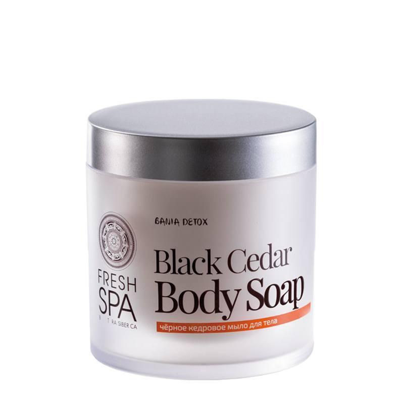NATURA SIBERICA Bania Detox – Černé tělové mýdlo Cedrové Objem 400 ml