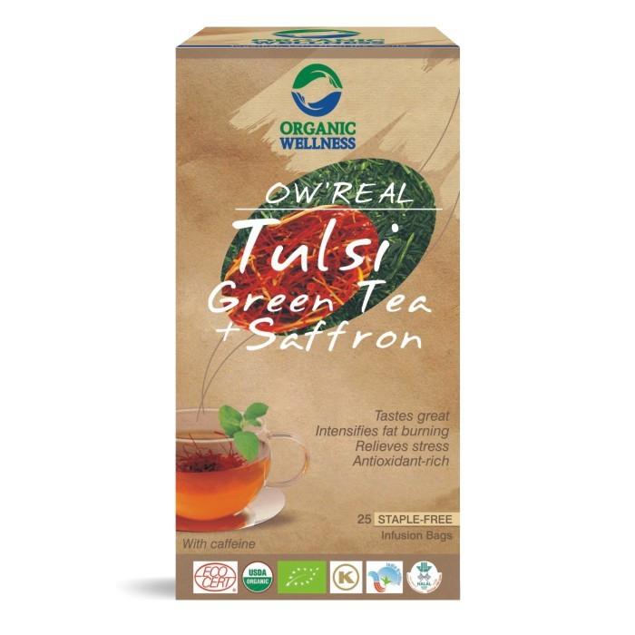 ORGANIC WELLNESS BIO Tulsi se zeleným čajem a Šafránem čaje 25 x 1,55 g