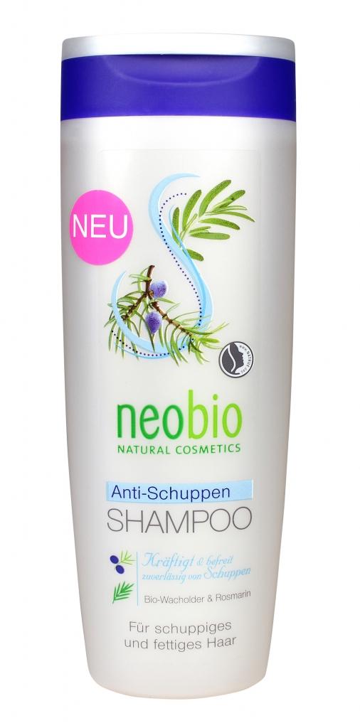 NEOBIO Šampon proti lupům Jalovcový olej & Rozmarýna Objem 250 ml