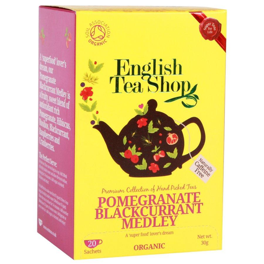 ENGLISH TEA SHOP Rooibos, granátové jablko a černý rybíz čaje 20 x 1,5 g
