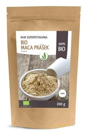 ALLNATURE Maca peruánská černá prášek BIO RAW Objem 200 g