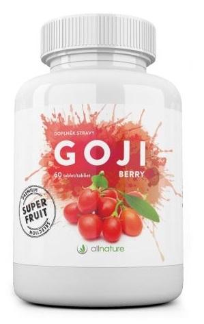 ALLNATURE Goji berry tablety Bylinné kapsle 60 tablet