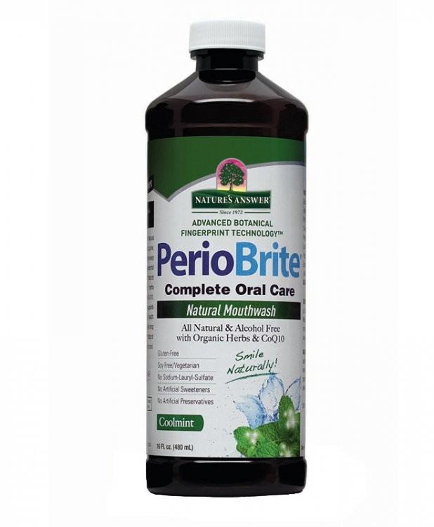 NATURE´S ANSWER Ústní voda PerioBrite® - chladivá mátová Objem 480 ml