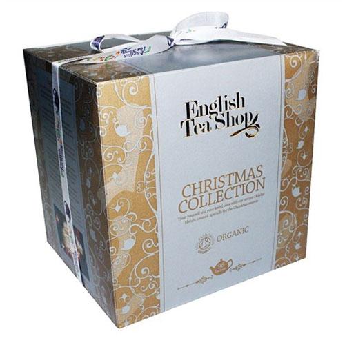 ENGLISH TEA SHOP Vánoční papírové kostky - Zlaté Vánoce čaje 1 set - 96 ks