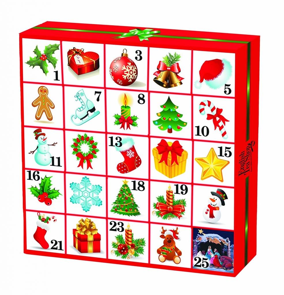 ENGLISH TEA SHOP Adventní kalendář - Vánoční ozdoby čaje 25 pyramidek