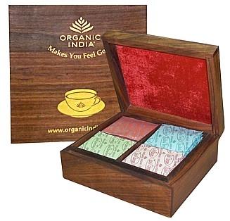 ORGANIC INDIA Tulsi luxusní dárkový box čajů čaje 1 set