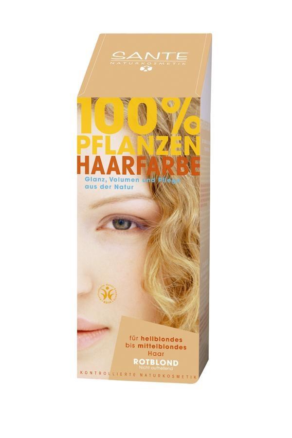 SANTE Rostlinná barva na vlasy Teplá blond Objem 100 g