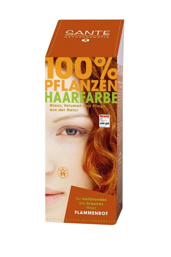 SANTE Rostlinná barva na vlasy Ohnivá červená Objem 100 g