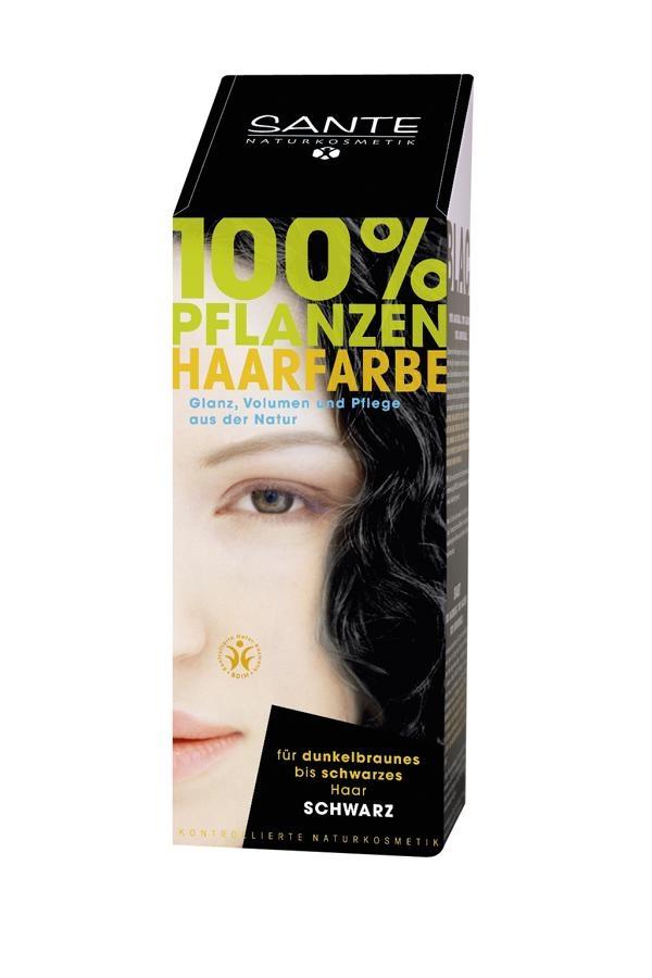 SANTE Rostlinná barva na vlasy Černá Objem 100 g