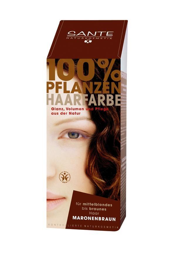 SANTE Rostlinná barva na vlasy Kaštanově hnědá Objem 100 g