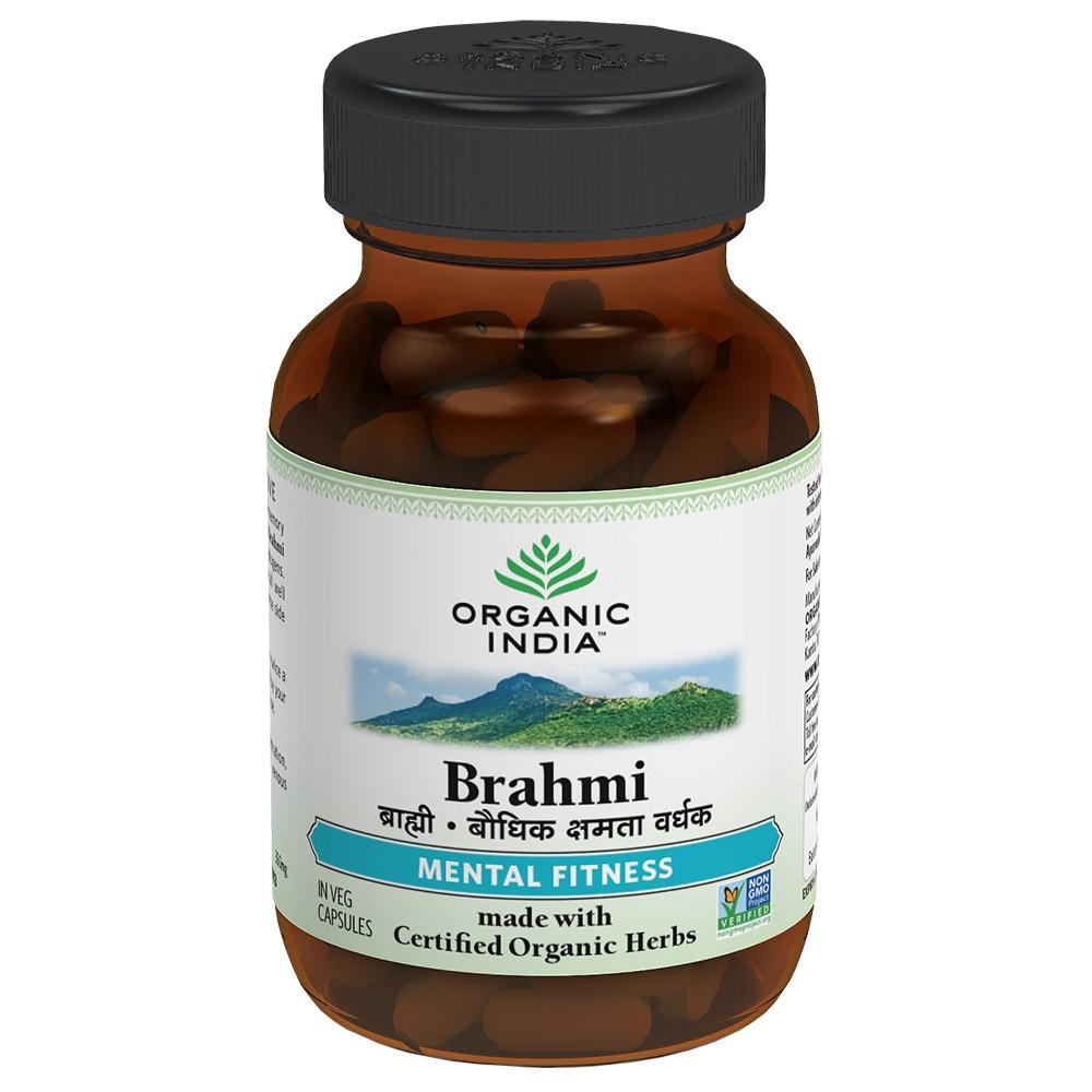 ORGANIC INDIA Brahmi - pro duševní rovnováhu Bylinné kapsle 60 kapslí
