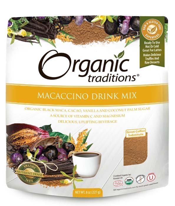 ORGANIC TRADITIONS Macaccino bylinná káva ze superpotravin Objem 227 g