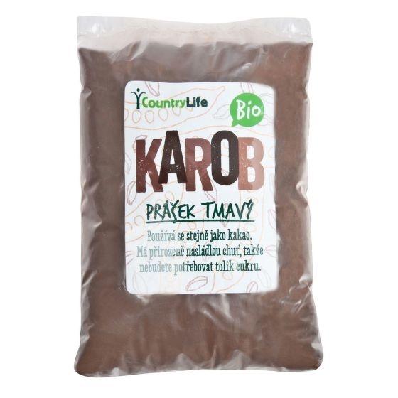 COUNTRYLIFE Karobový prášek tmavý Objem 500 g