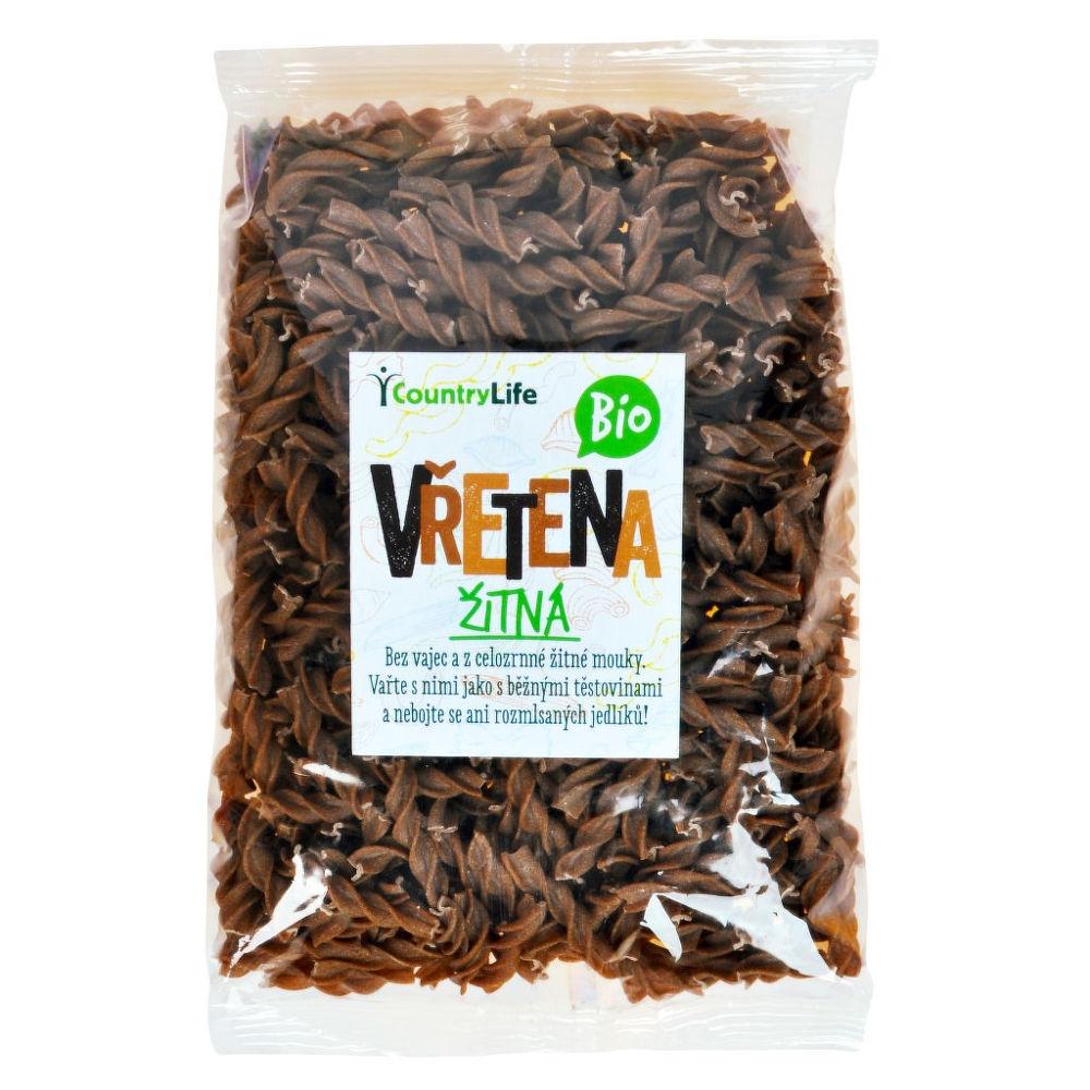 COUNTRYLIFE Těstoviny vřetena žitná Objem 400 g