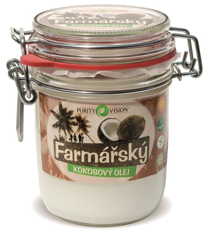 PURITY VISION Farmářský Kokosový olej BIO Objem 300 ml