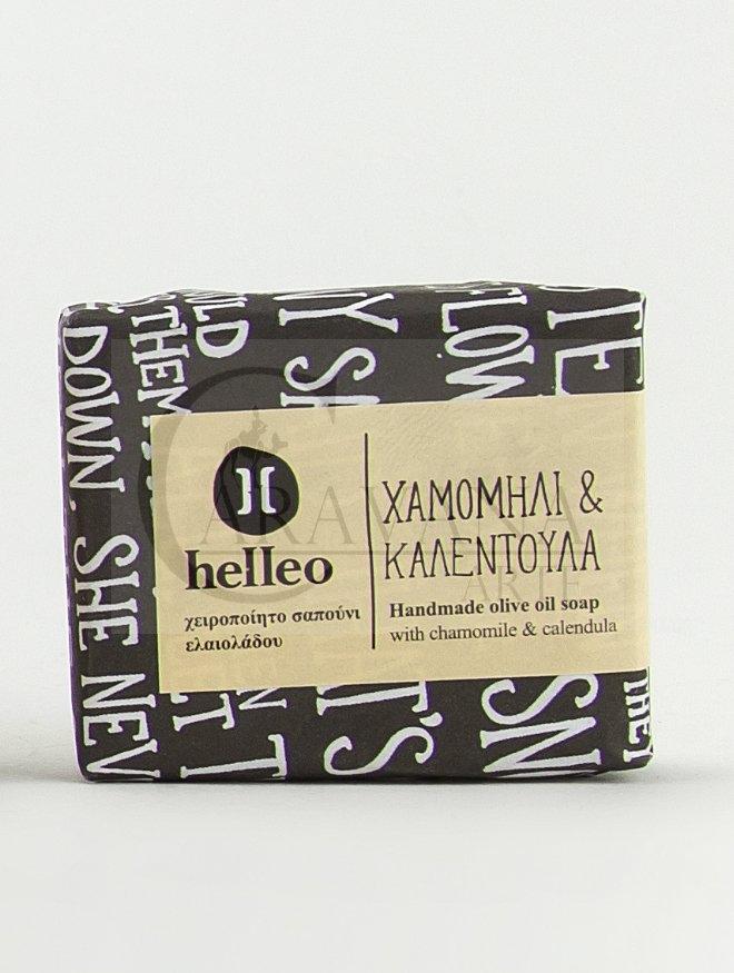 HELLEO 100% natural olivové mýdlo - Heřmánek a měsíček Objem 30 g