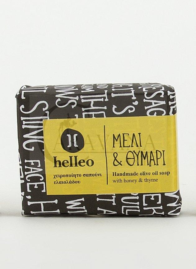 HELLEO 100% natural olivové mýdlo - Med a tymián Objem 30 g