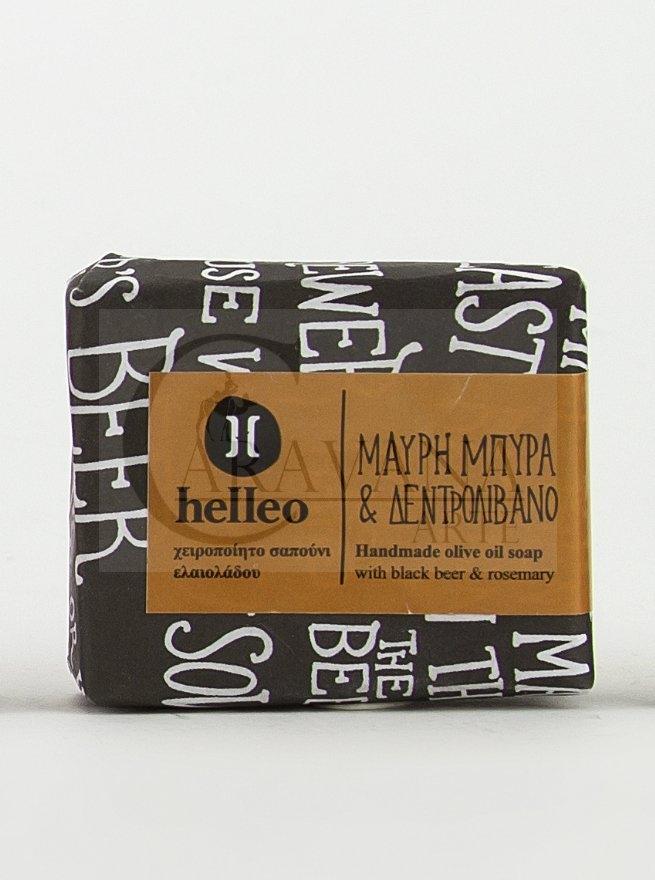 HELLEO 100% natural olivové mýdlo - Černé pivo a rozmarýn Objem 30 g