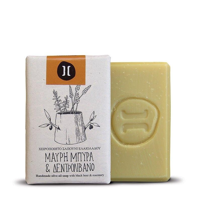 HELLEO 100% natural olivové mýdlo - Černé pivo a rozmarýn Objem 120 g