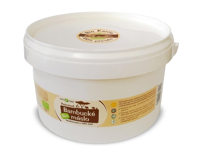 PURITY VISION Prémiové Bio Bambucké máslo Objem 2,5 kg