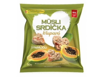 SEMIX Musli srdíčka křupavá s papájou Objem 50 g