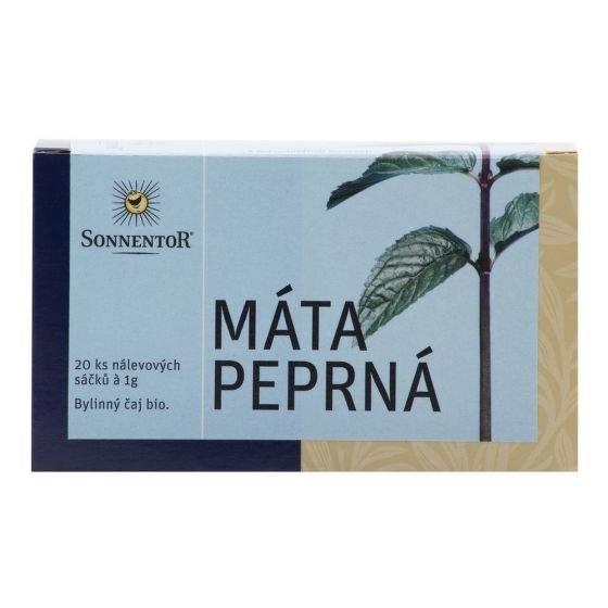 SONNENTOR Čaj Máta peprná BIO (bez přebalu) čaje 20 x 1 g