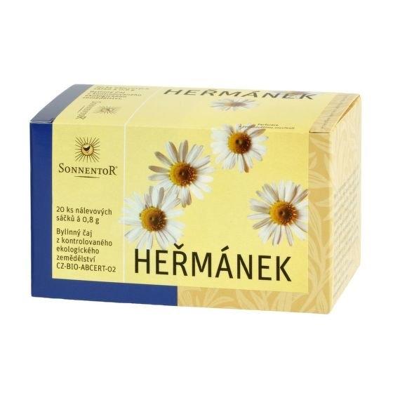 SONNENTOR Čaj Heřmánek BIO (bez přebalu) čaje 20 x 0,8 g