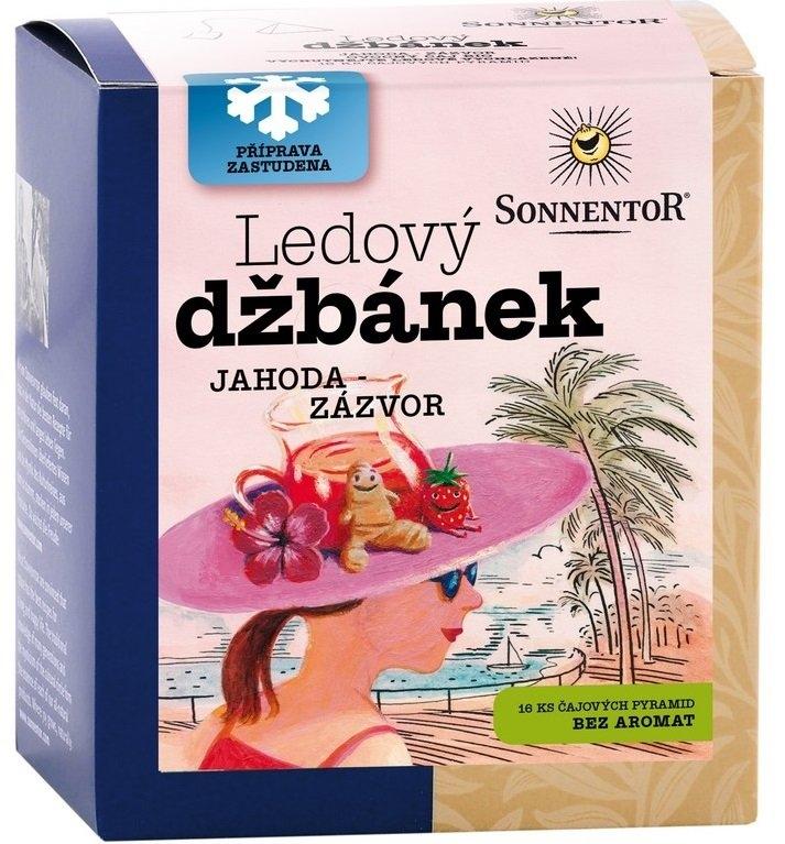 SONNENTOR Ledový džbánek Jahoda-zázvor Bio čaje 20 x 2,24g