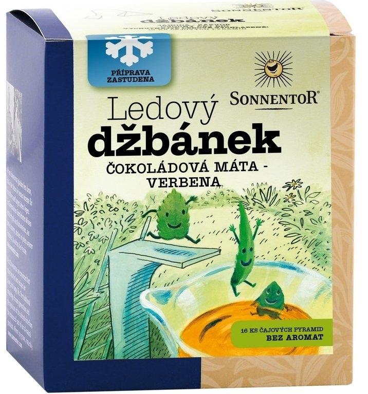 SONNENTOR Ledový džbánek Máta čokoládová-Verbena Bio čaje 20 x 1,6g
