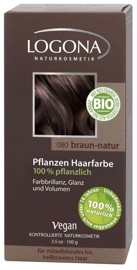 LOGONA Barva na vlasy Hnědá přírodní Objem 100 g