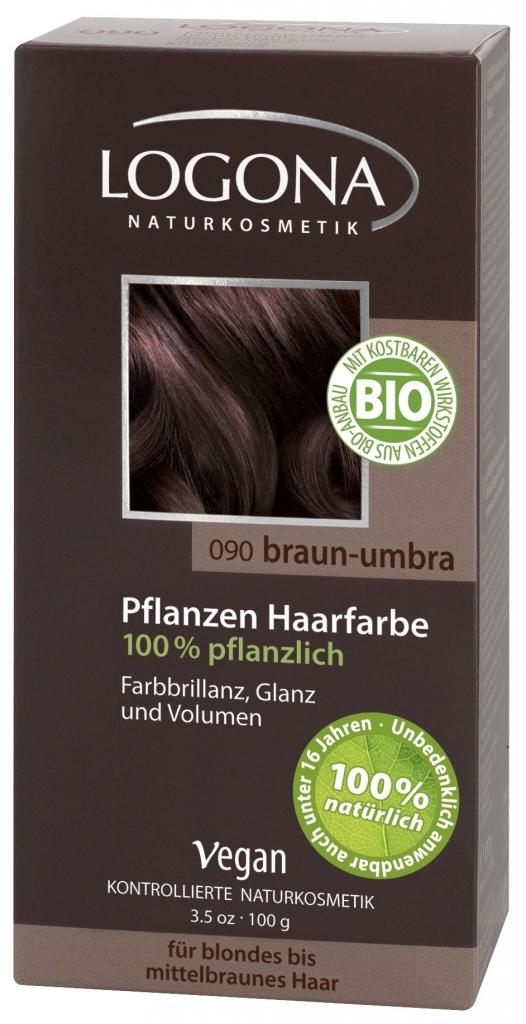 LOGONA Barva na vlasy Umbrijská hnědá Objem 100 g