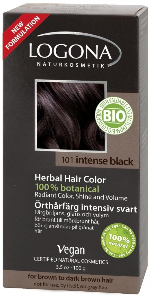 LOGONA Barva na vlasy Intenzivní černá Objem 100 g