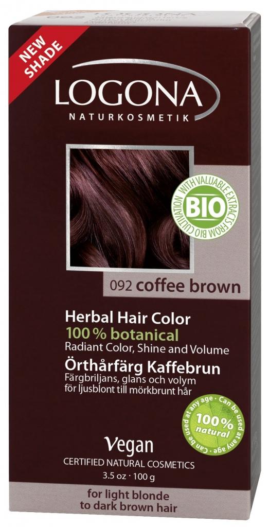 LOGONA Barva na vlasy Kávově hnědá Objem 100 g