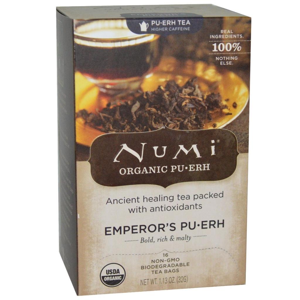NUMI TEA Čaj BIO Císařský Pu-Erh čaje 16 x 2 g