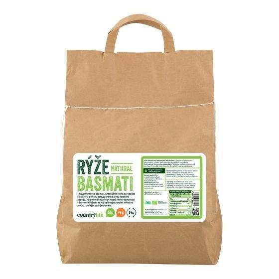 COUNTRYLIFE Rýže basmati natural Objem 5 kg