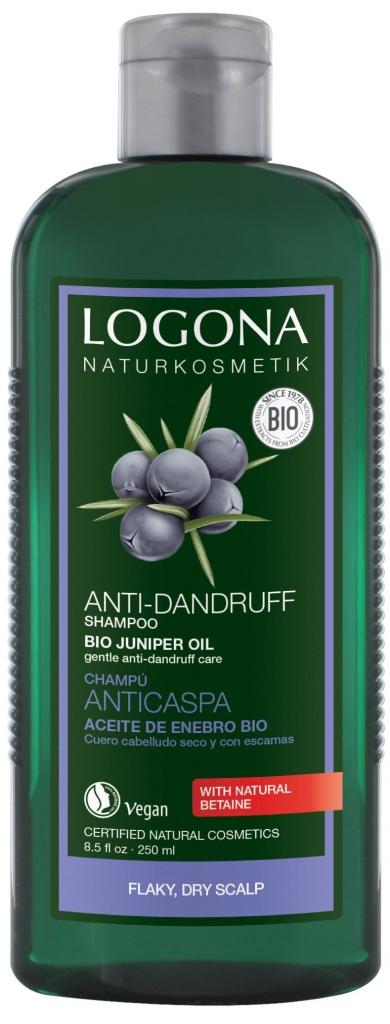 LOGONA Šampon proti lupům Jalovcový olej Objem 250 ml