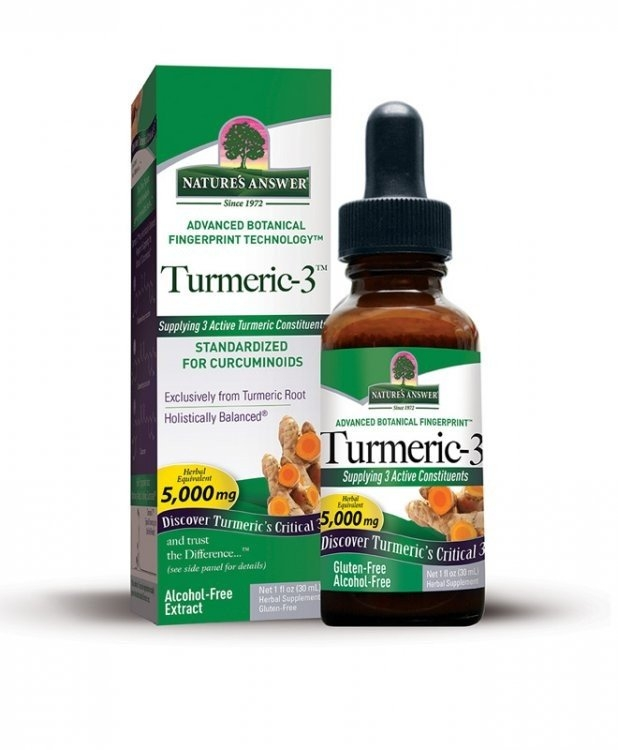 NATURE´S ANSWER Holistické bylinné kapky Kurkuma 3™ Objem 30 ml