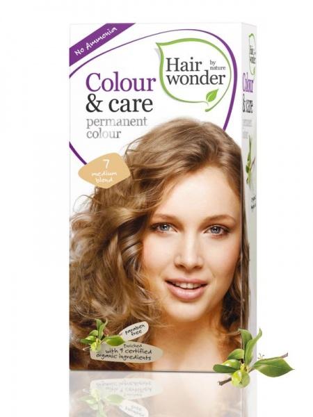 HAIRWONDER Přírodní dlouhotrvající barva BIO STŘEDNĚ BLOND 7 Objem 1 balení