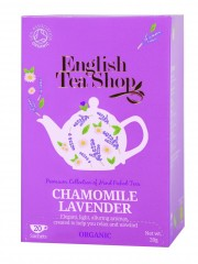 ENGLISH TEA SHOP Levandule a heřmánek 20 x 2 g