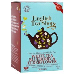 ENGLISH TEA SHOP Bílý čaj borůvka a bezový květ 20 x 2 g