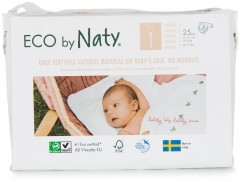 ECO BY NATY Plenky Newborn 2-5 kg (25 ks)