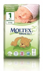 MOLTEX Plenky nature no.1 Newborn 2-4 kg (23 ks)