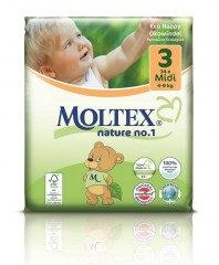 MOLTEX Plenky nature no.1 Midi 4-9 kg (34 ks)