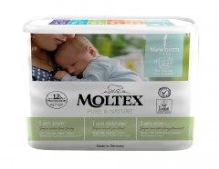 MOLTEX Plenky Moltex Pure & Nature Newborn 2-4 kg (22 ks)