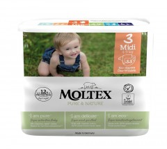 MOLTEX Plenky Moltex Pure & Nature Midi 4-9 kg (33 ks)